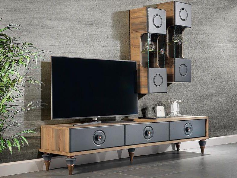 Set Comoda Tv cu 2 Corpuri - Bianco