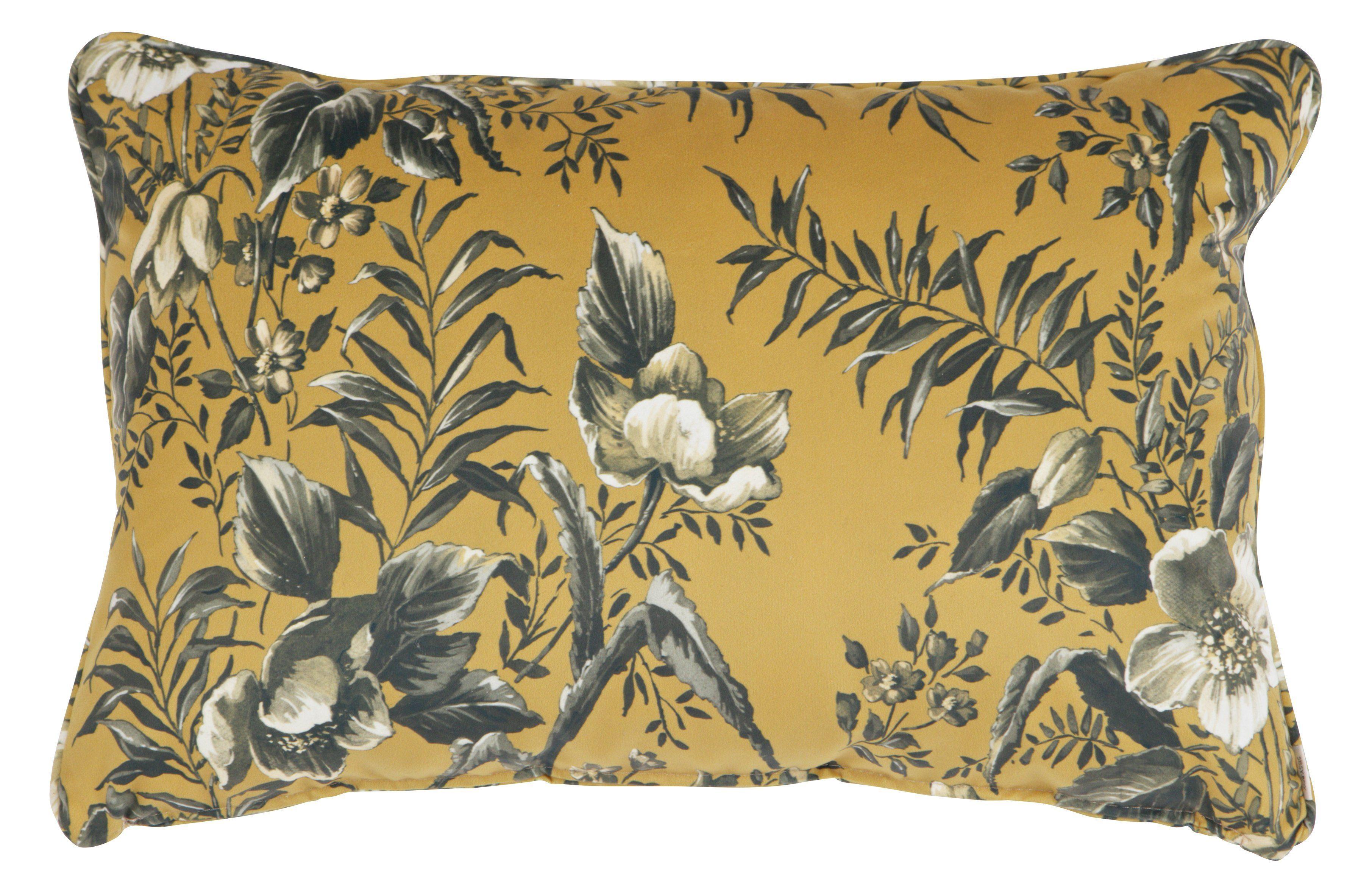 Perna de catifea cu imprimeu 40x60 cm Vogue - Galben Mustar