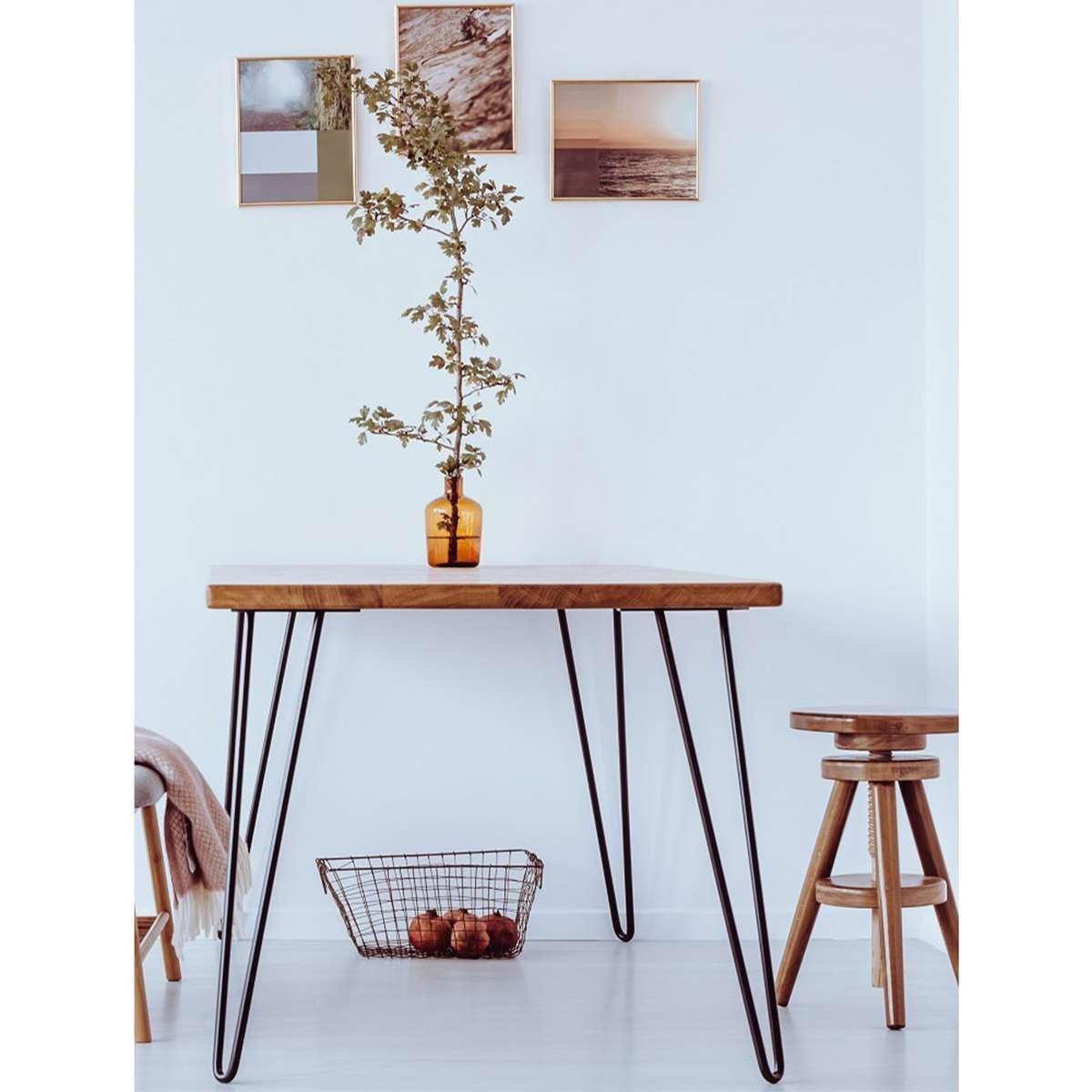 Masa din Lemn Masiv culoarea Stejar , 100x60x75 cm