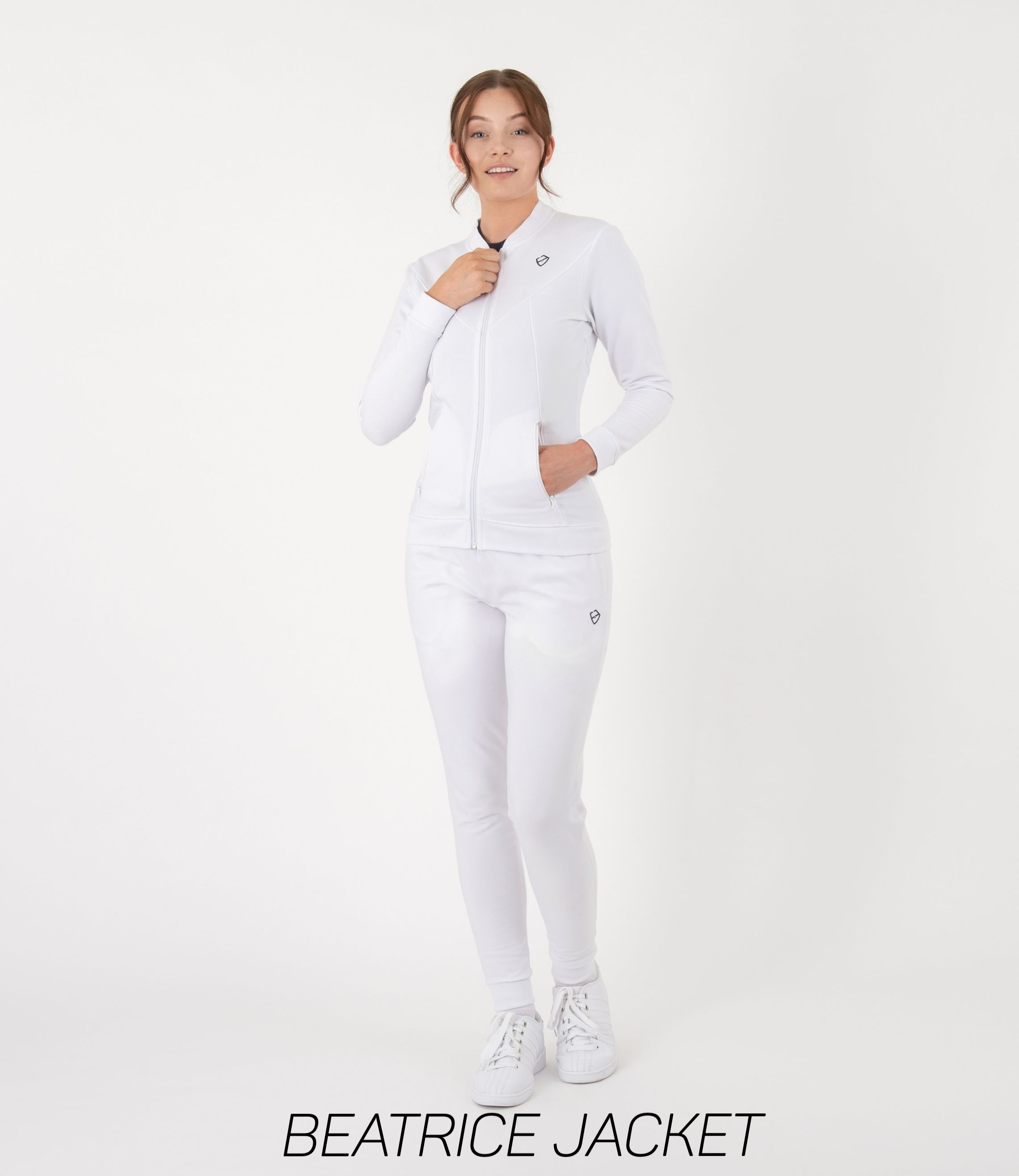 Cosy White Workout Jacket