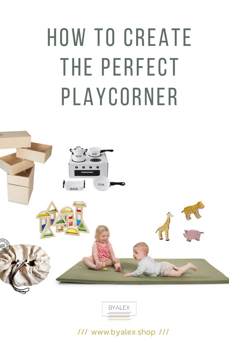How to design a playcorner for multiple kids