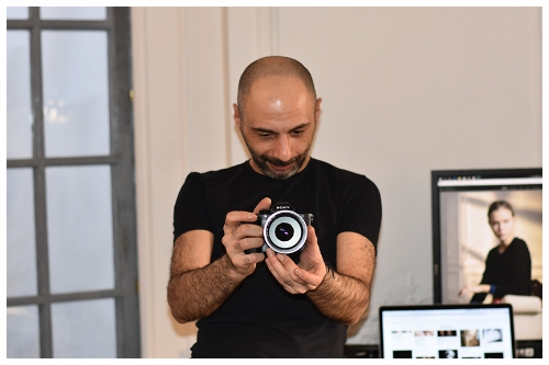 Hovents, Luxury Fashion and Jewelry Photographer Taking a Picture with His Camera