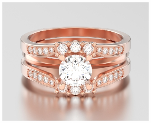 Vintage Rose Gold Engagement Ring That Showcases Jewelry Trends