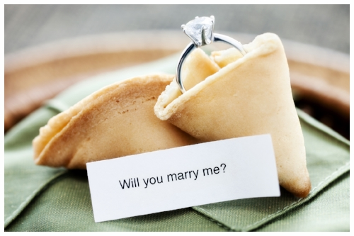 Diamond Ring and Proposal in a Fortune Cookie