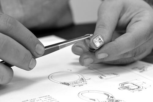 Jeweler Working on a Producing a 14k Ring