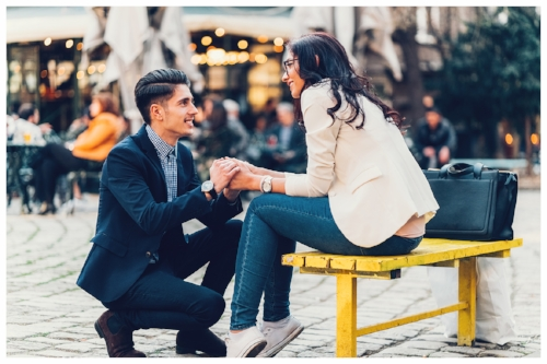 Man Proposing to His Girlfriend in Public