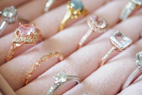 Collection of Fine Engagement Rings in Yellow and Rose Gold