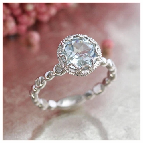 An Exquisite Aquamarine Gemstone Engagement Ring