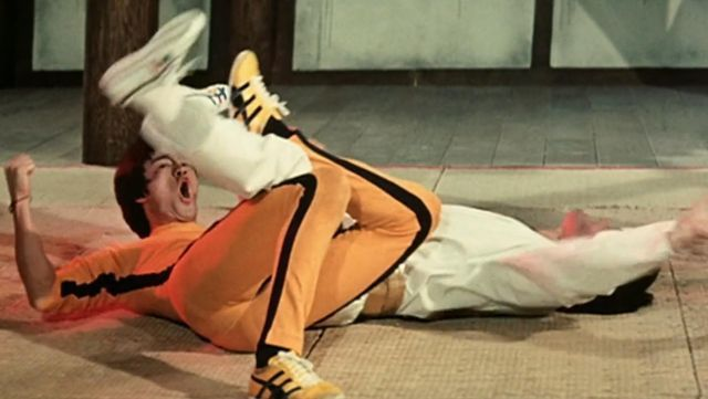 Bruce Lee wearing Mexico 66 Tigers in the movie Game of Death