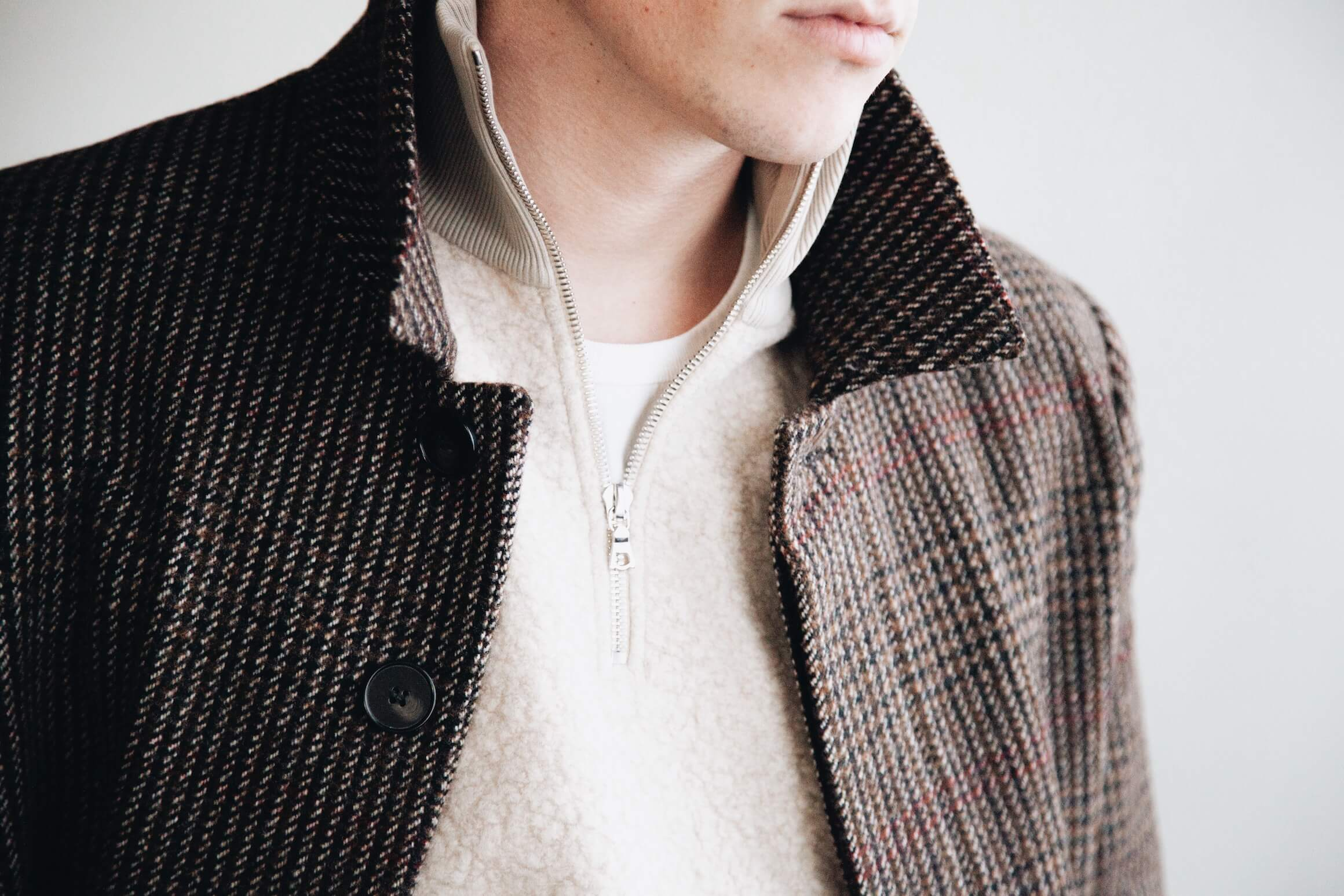 harmony paris maximus overcoat and sergio sweatshirt on body
