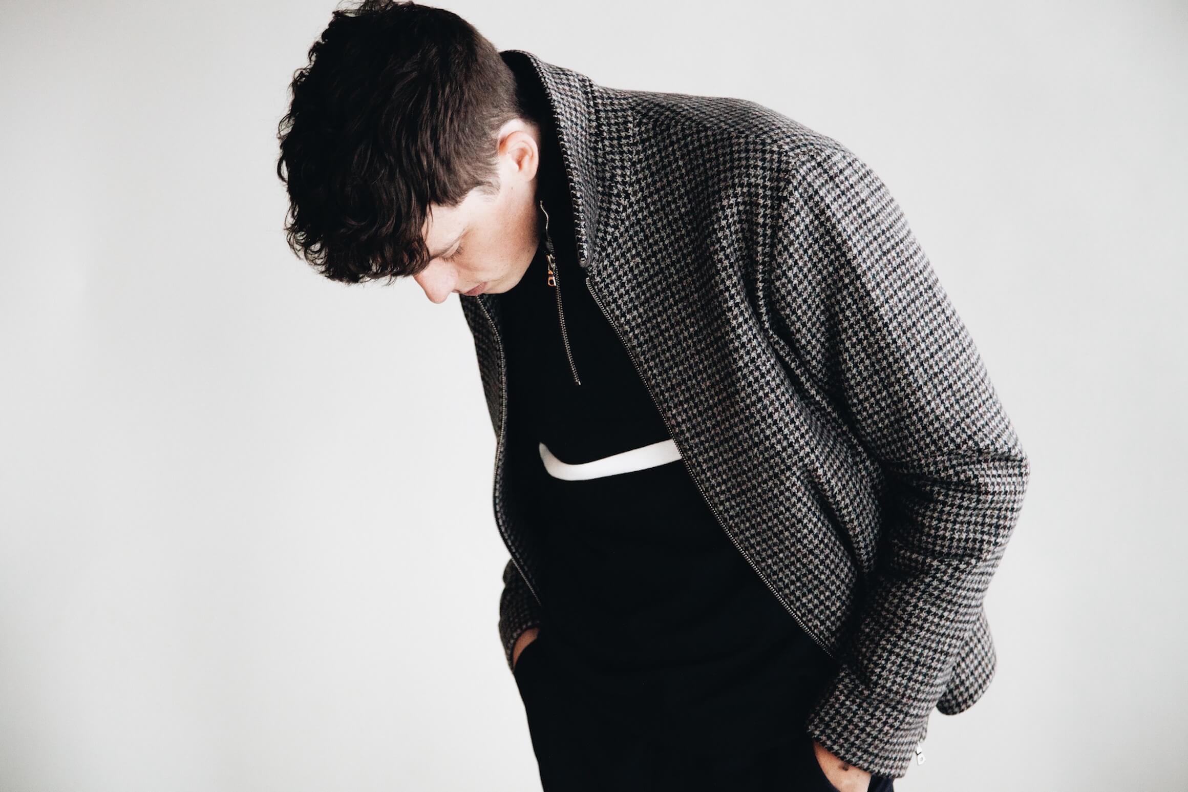 harmony paris milos coach jacket and sofian sweatshirt on body