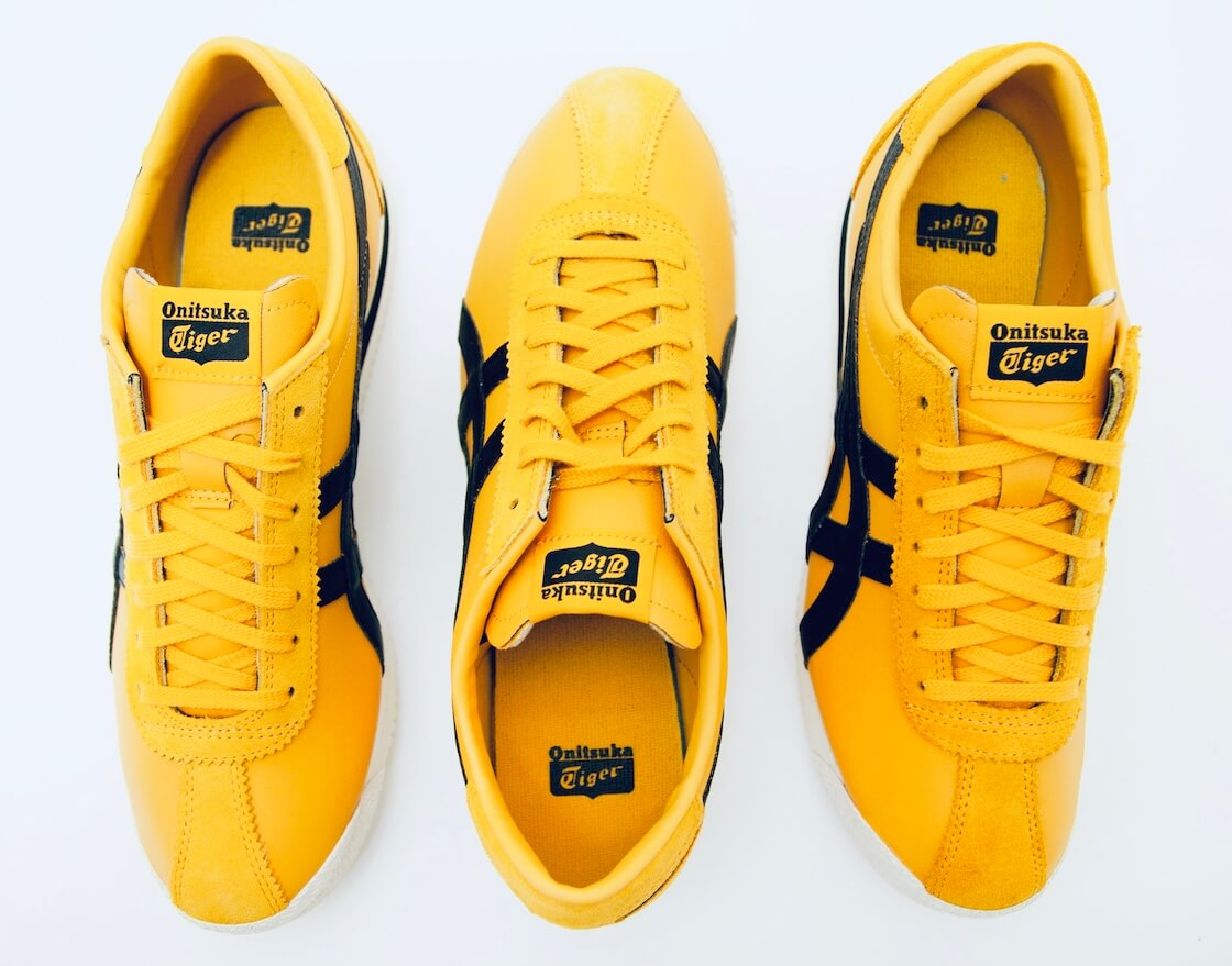 tiger corsair shoes in Bruce Lee black and gold two tone