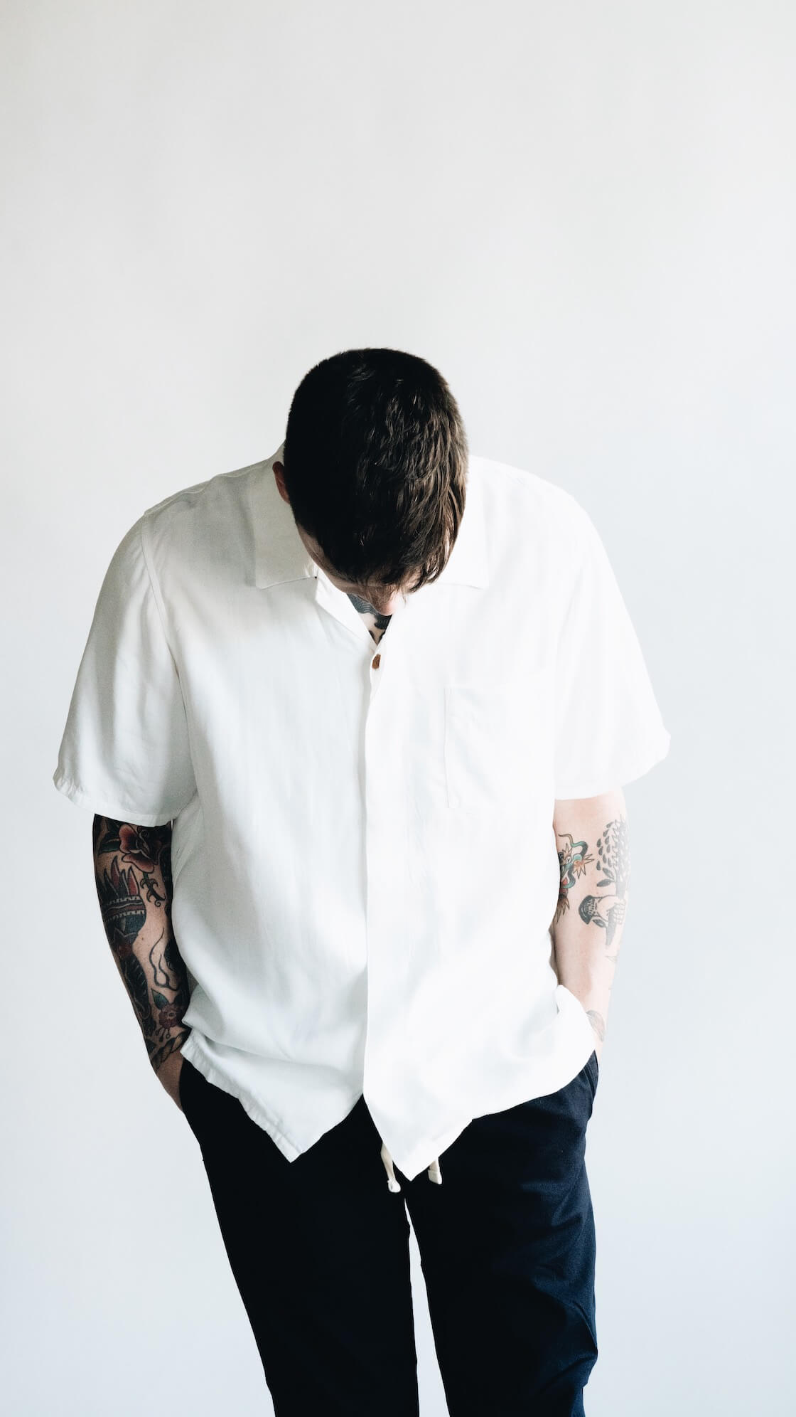 free edge shirt from visvim, gym pants from beams plus on body