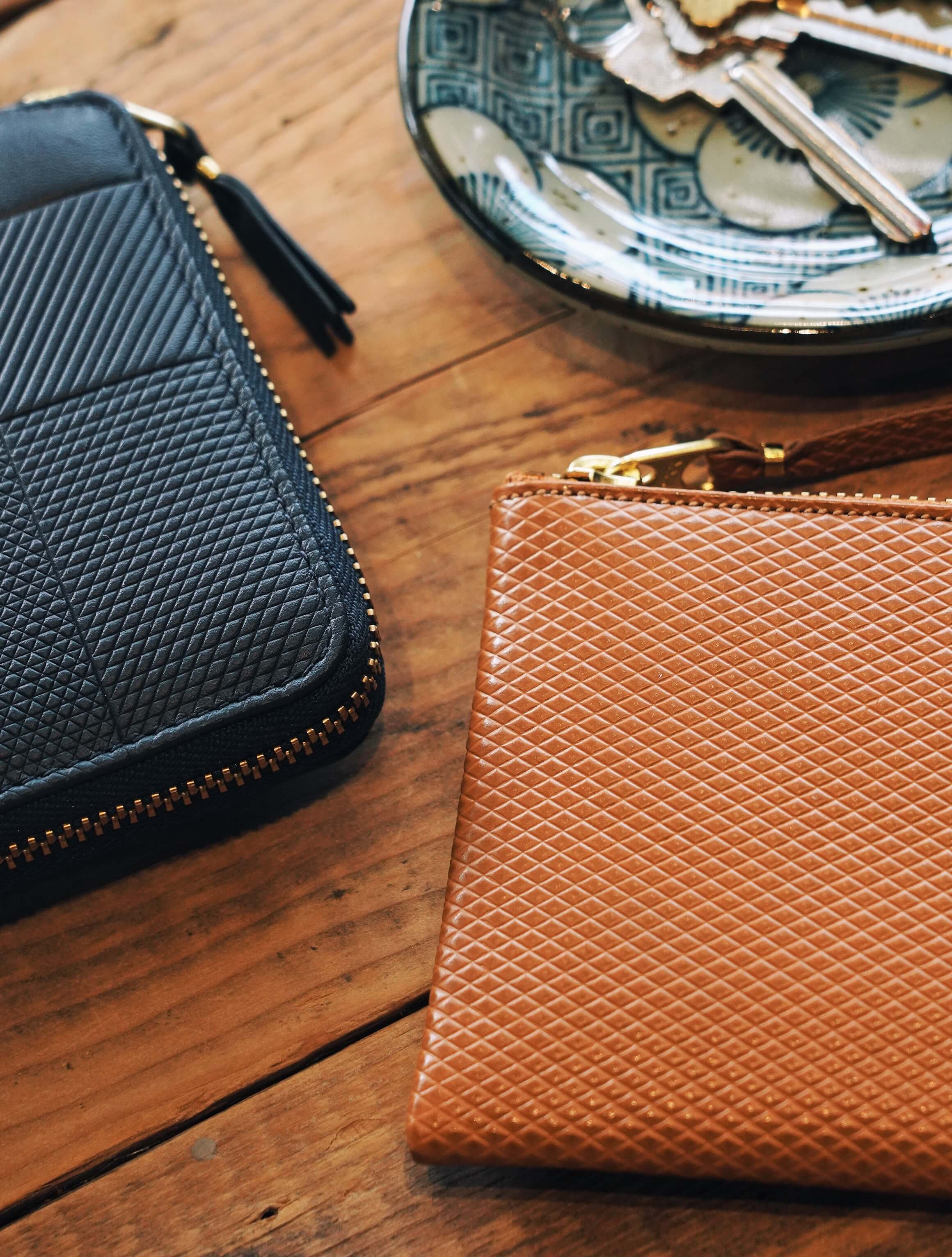 comme des garcons wallet intersection wallet and luxury leather line wallet
