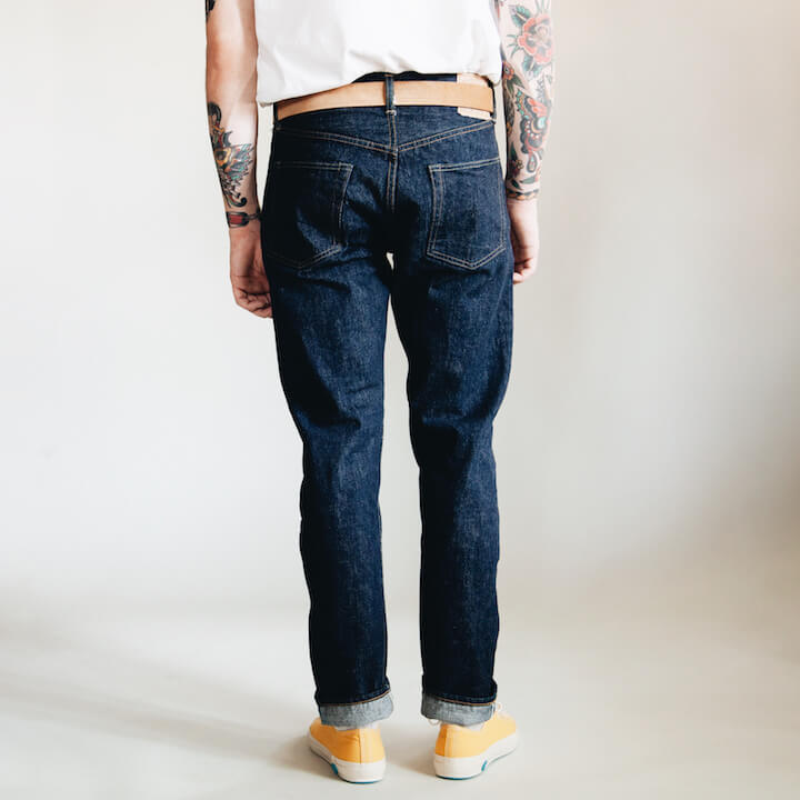 orSlow 107 Ivy Denim One Wash jeans on body