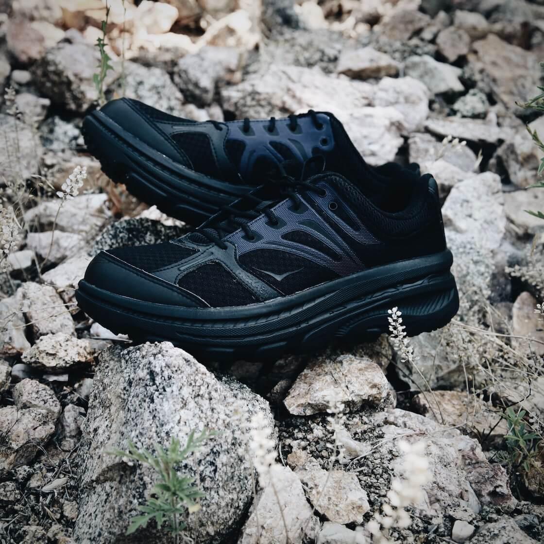 hoka one one and engineered garments bondi b shoes