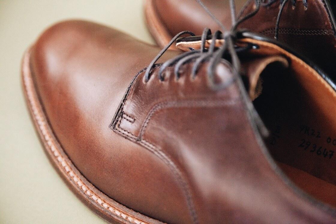 alden bluchers in brown chromexel