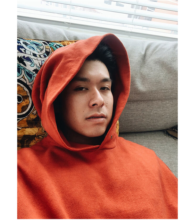 visvim amplus hoodie on body