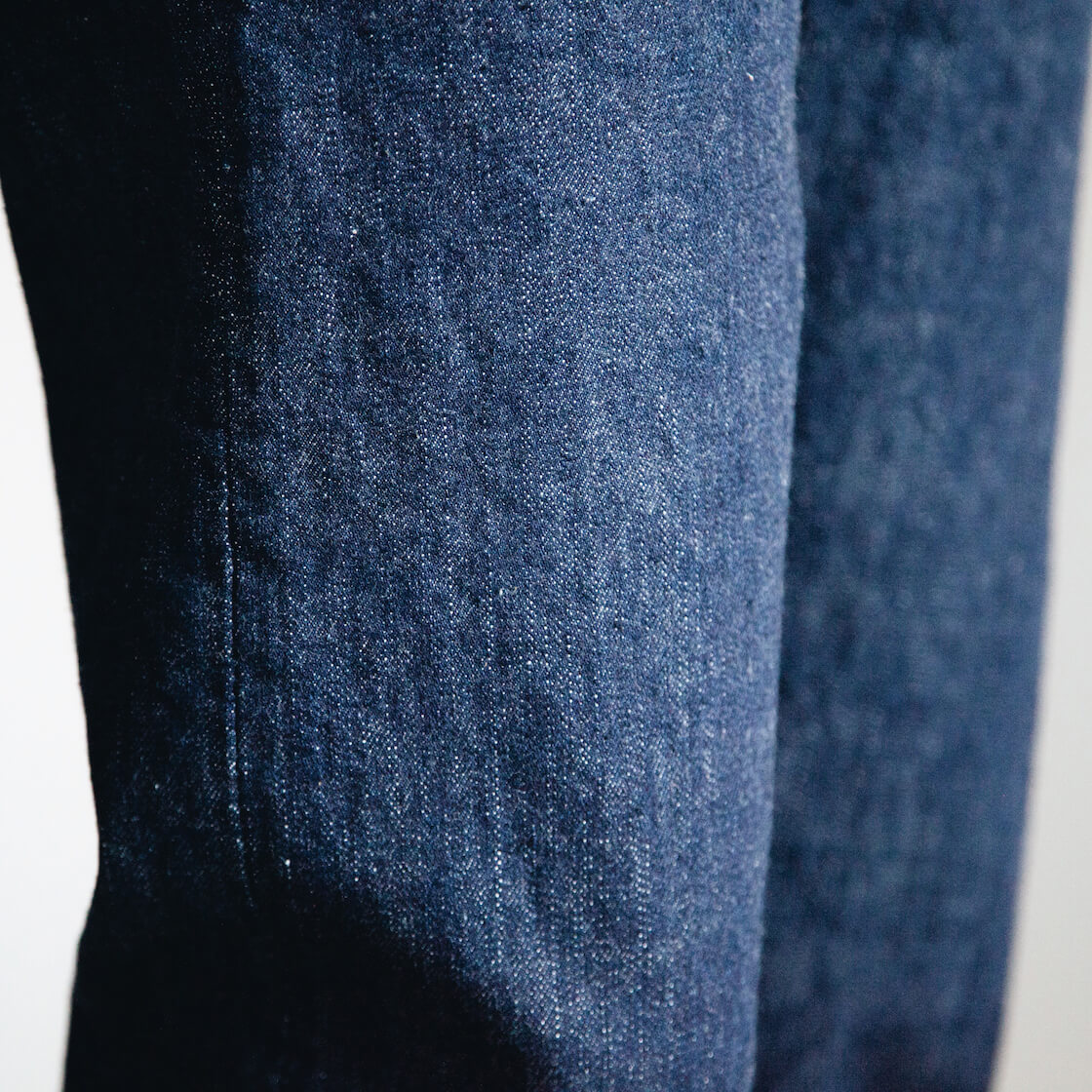 orSlow 107 Ivy Denim One Wash jeans fabric detail on body
