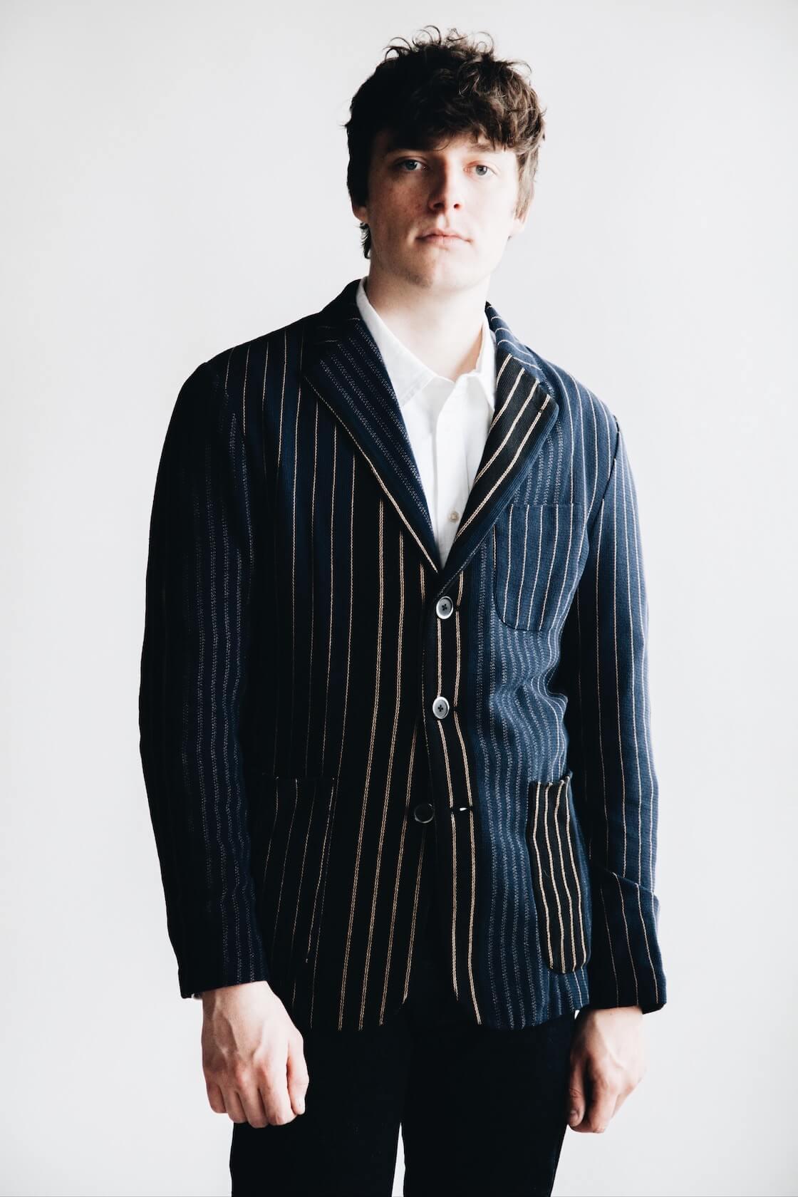 Barena Torceo Jacket, Canoe club x corridor nyc oxford shirt, and tanuki nt denim on body