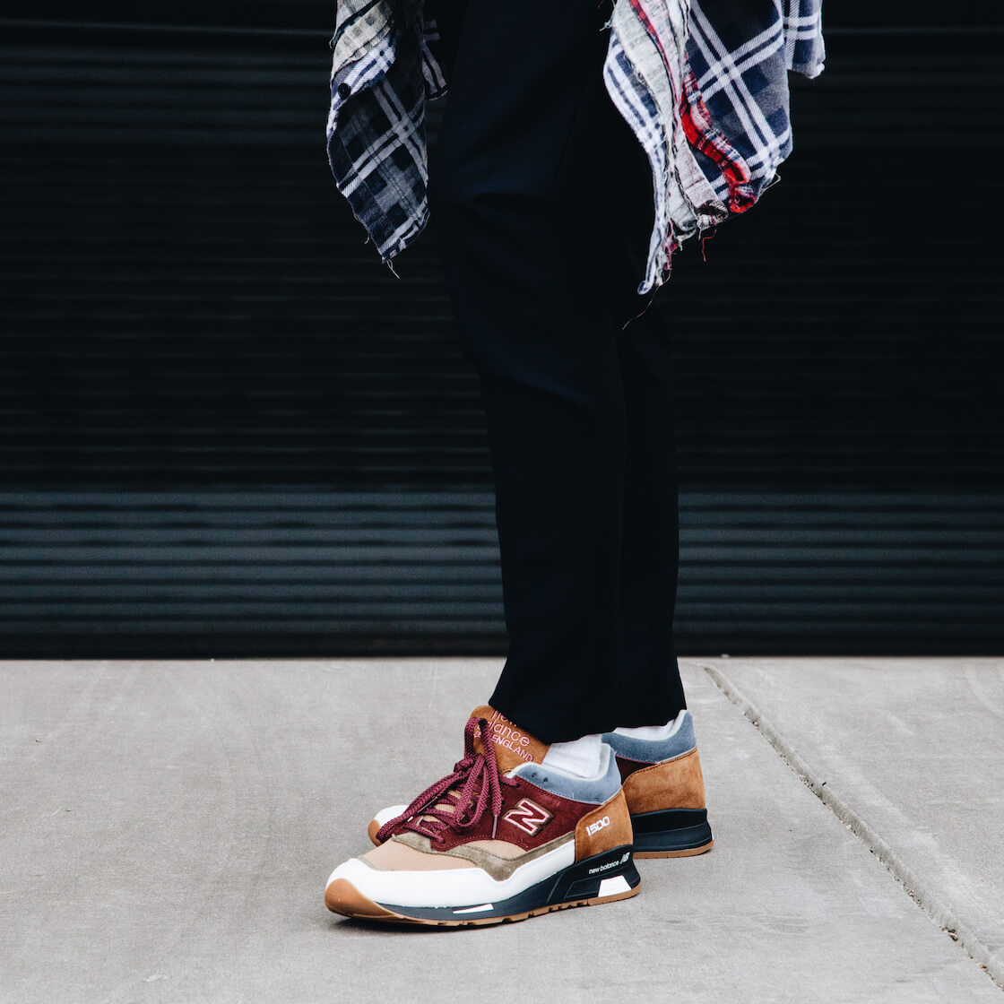 New Balance 1500 shoes with orslow jeans and Needles flannel