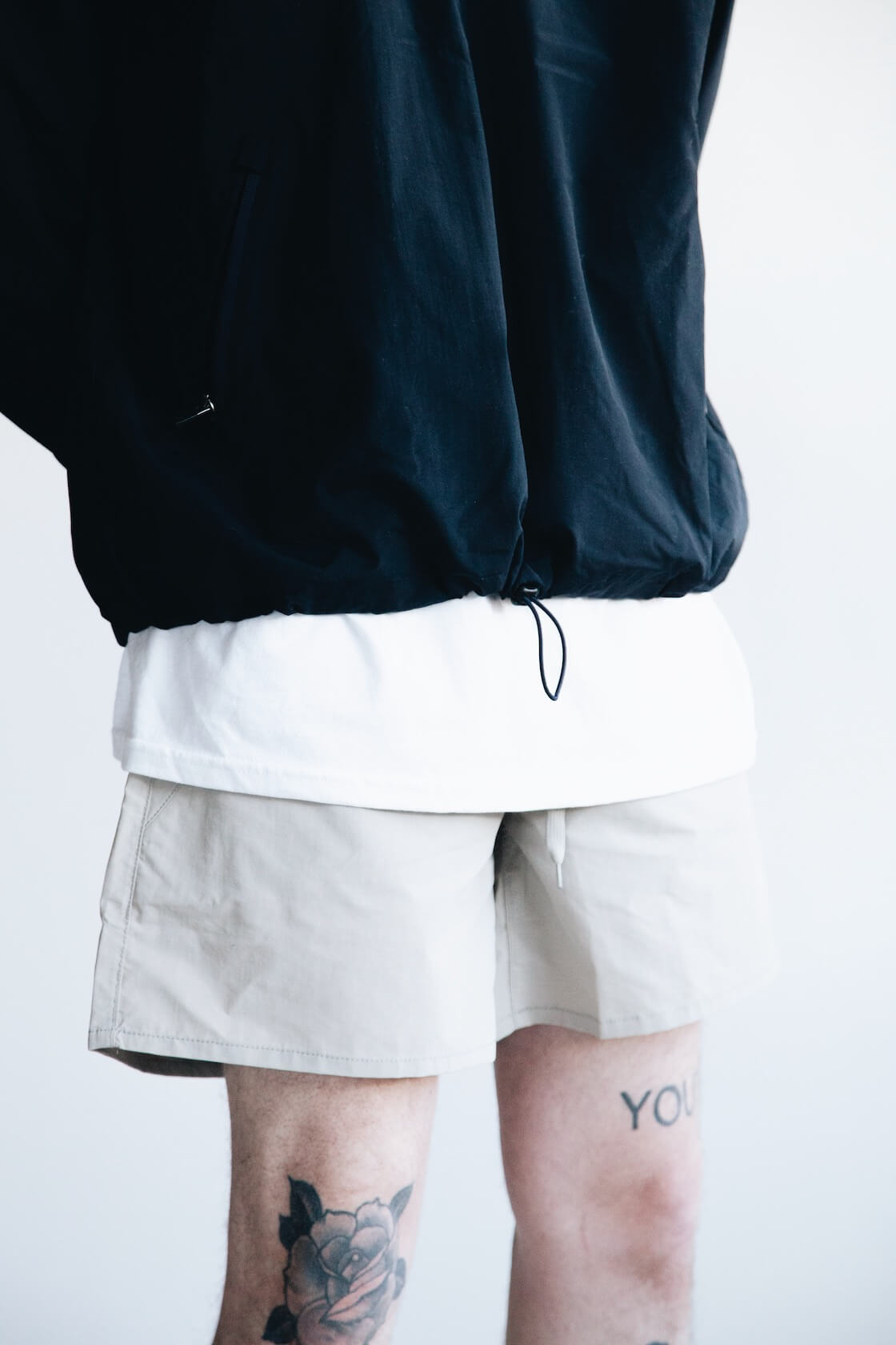 UC Jacket from Adsum, Clark Pocket Tee from Lady White Co., Site Shorts from Adsum on body