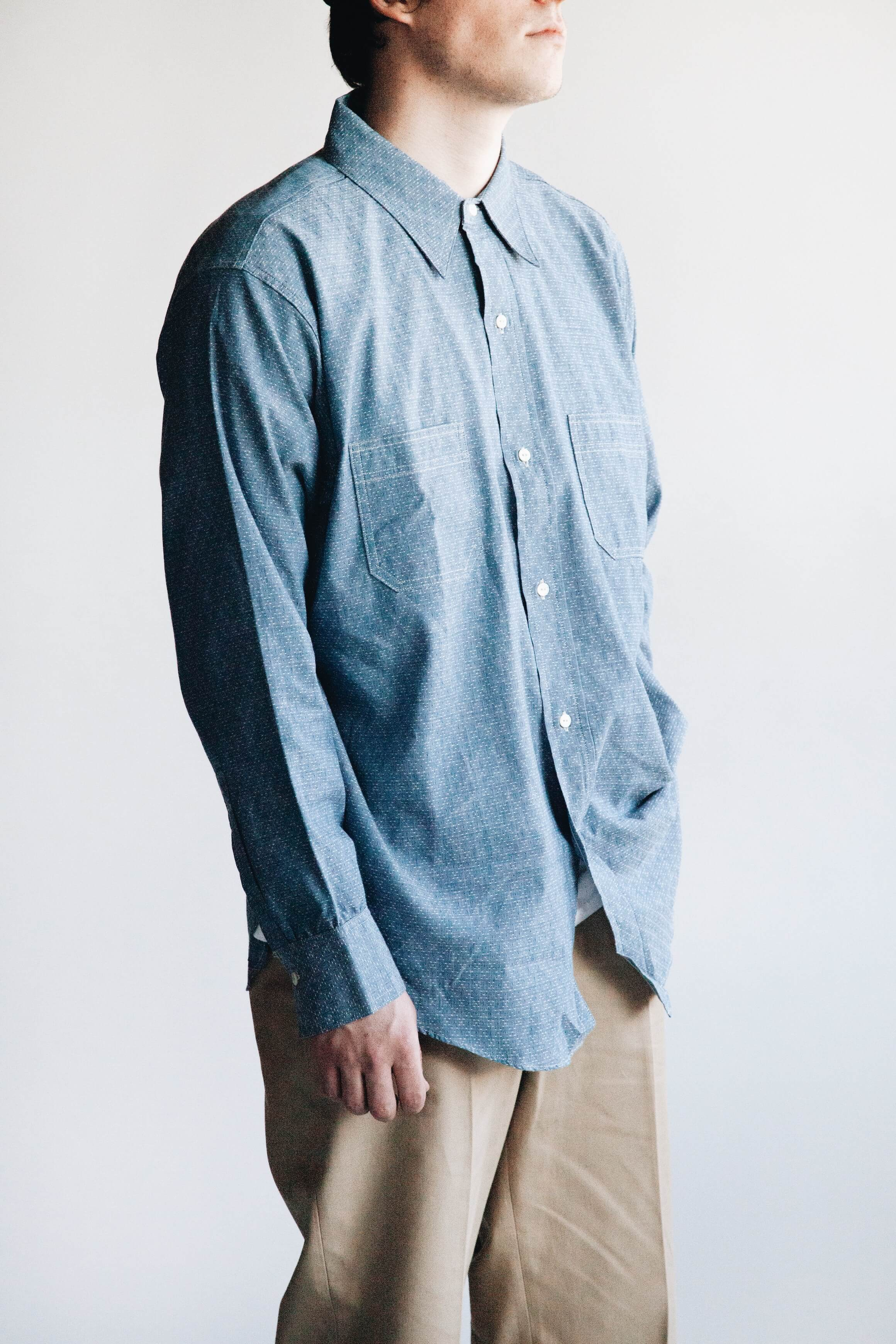 big yank 41 a shirts dd chambray shirt, big yank 1963 chino pants on body