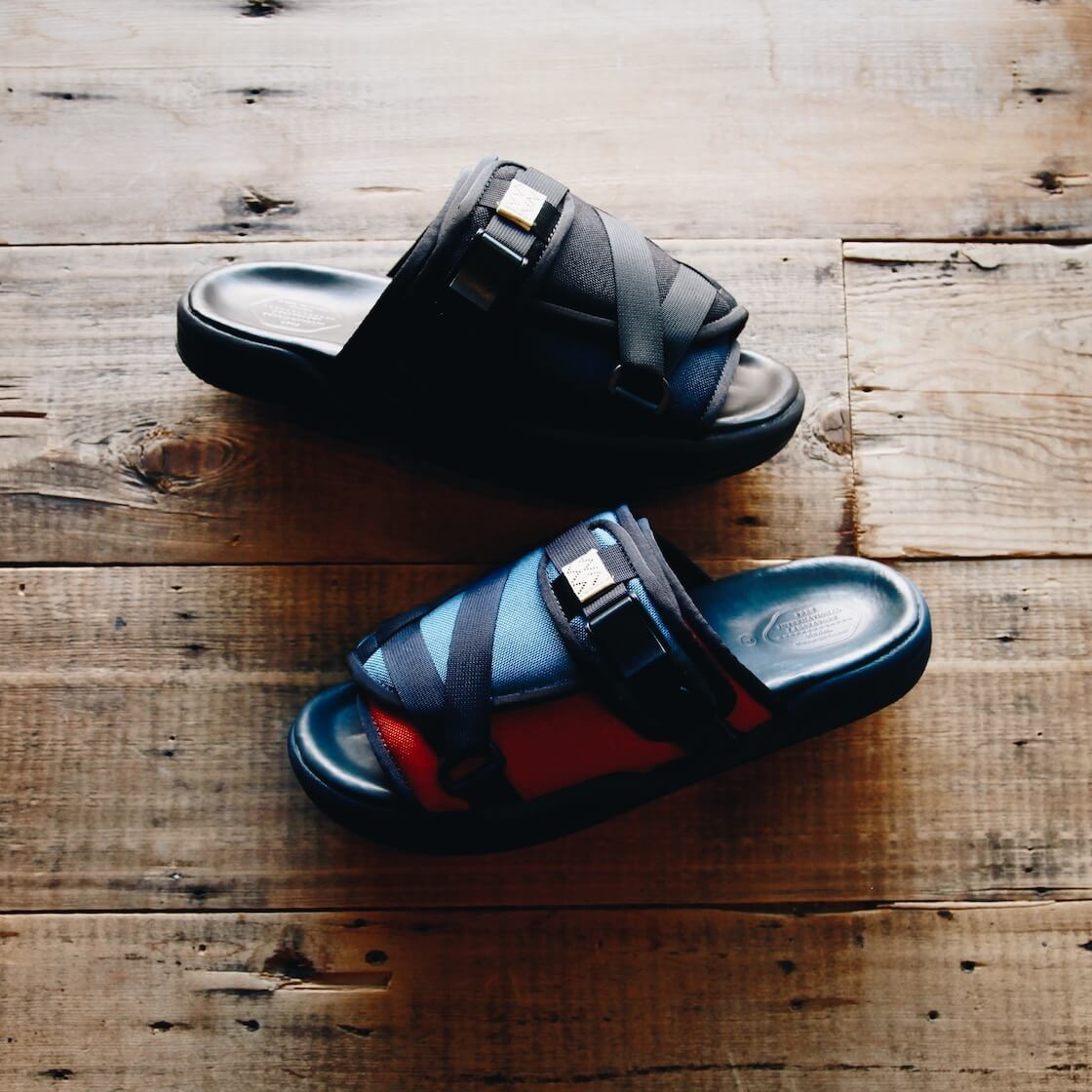 visvim christo 2-tone sandals