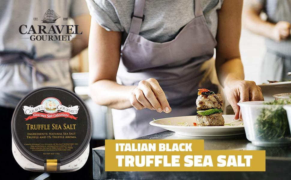 ITALIAN BLACK TRUFFLE SEA SALT