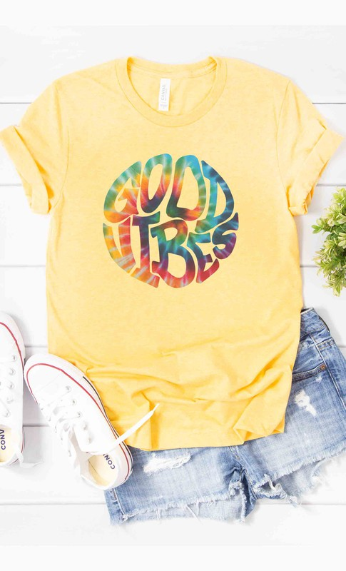 Good Vibes Tee in Sunny Yellow