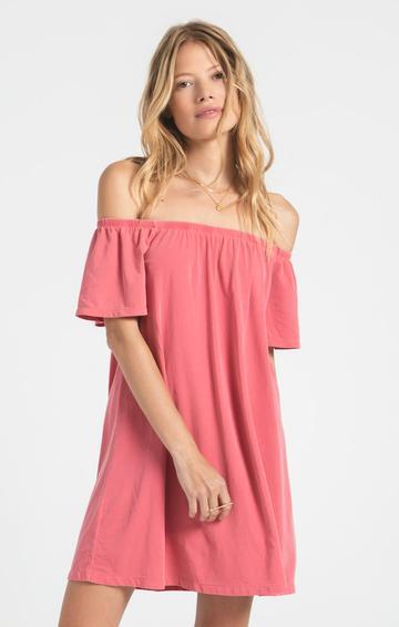 Z Supply Layla Jersey Dress in Tea Rose