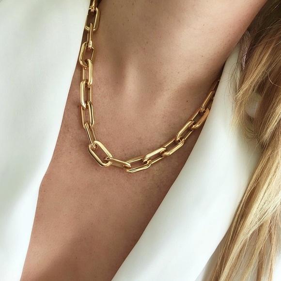 Ellie Vail Gage Oversized Link Necklace