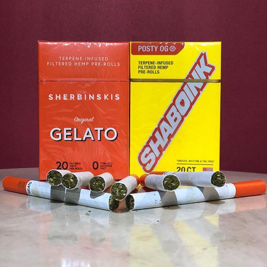 Wholesale Shaboink Gelato Hemp Cigarettes