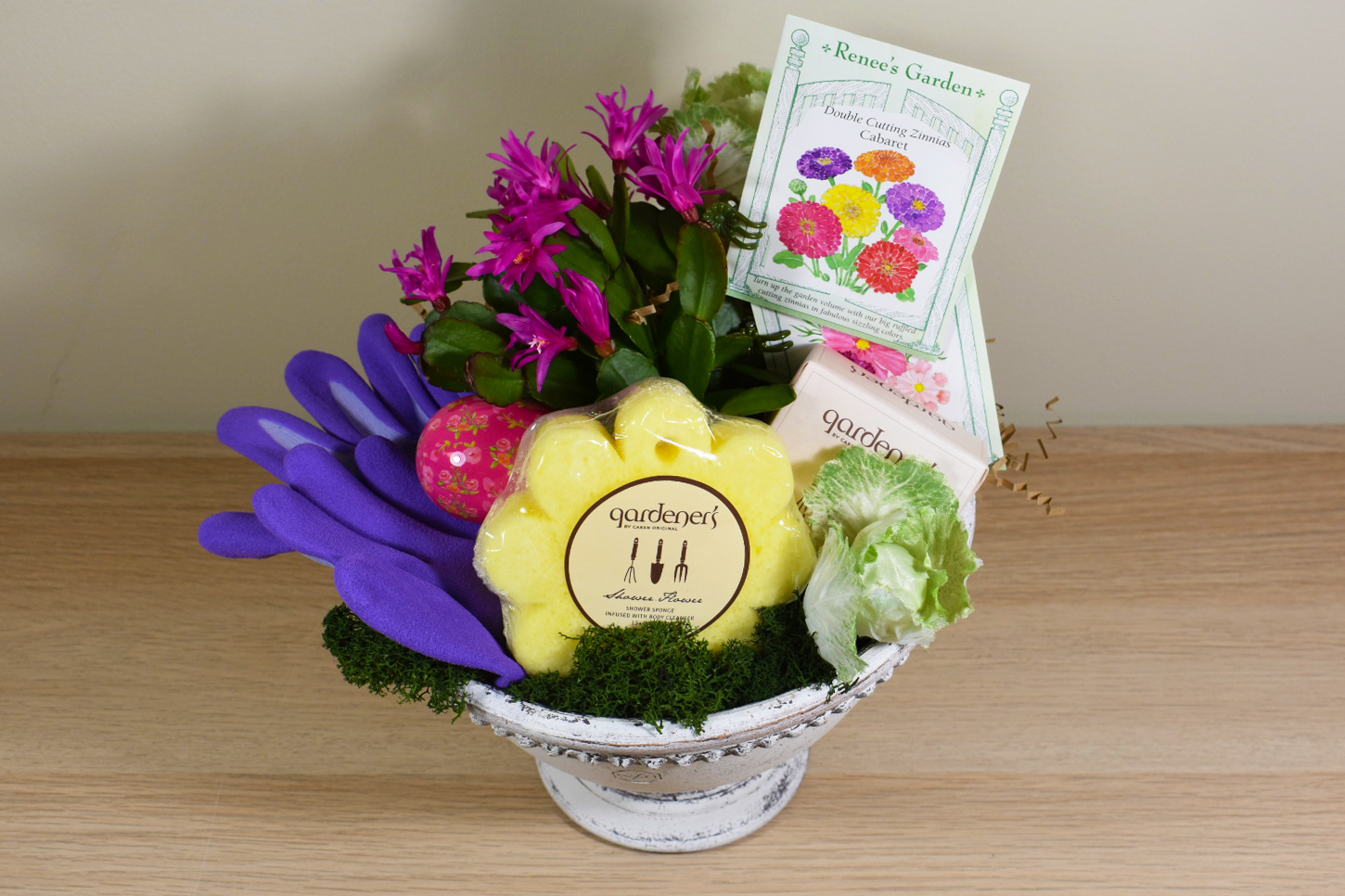 Stepping outside of the basket easter gift giving chalet nursery a curated collection of bright and colorful plants seeds gloves and tasty treats is sure to result in two green thumbs up negle Choice Image