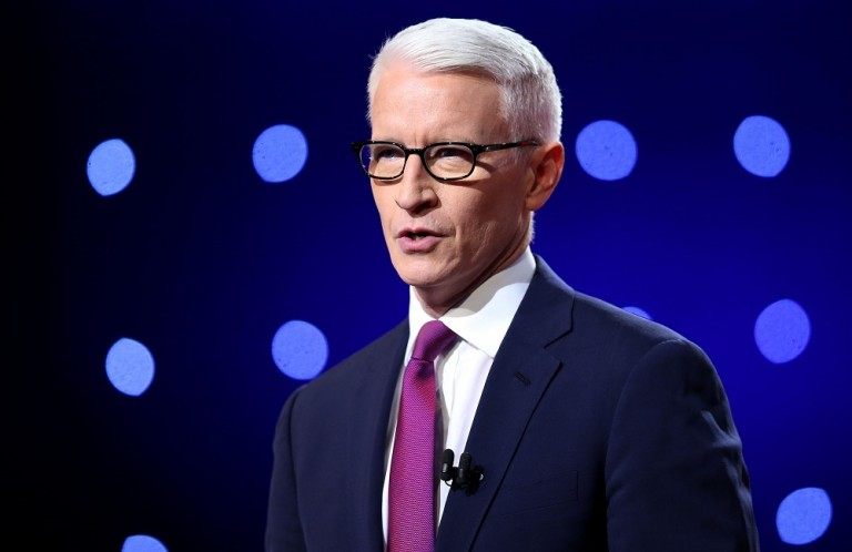 Anderson Cooper in Purple Tie