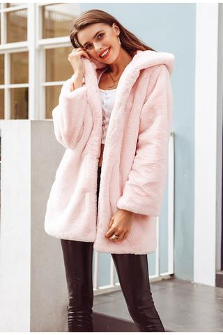 DIANA FAUX FUR HOODED COAT