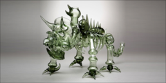 Robin Hood Glass Triceratops Bubbler