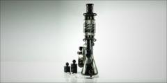 Killadelph Custom Triple Coil Beaker w/ Collin's Pyramid Perc and Matching Showerhead Ash Catcher