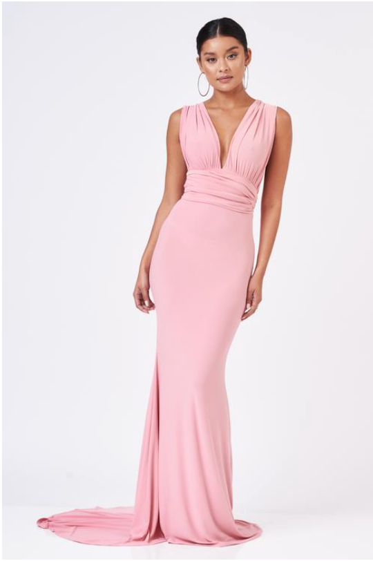 Pink Multiway Maxi Dress