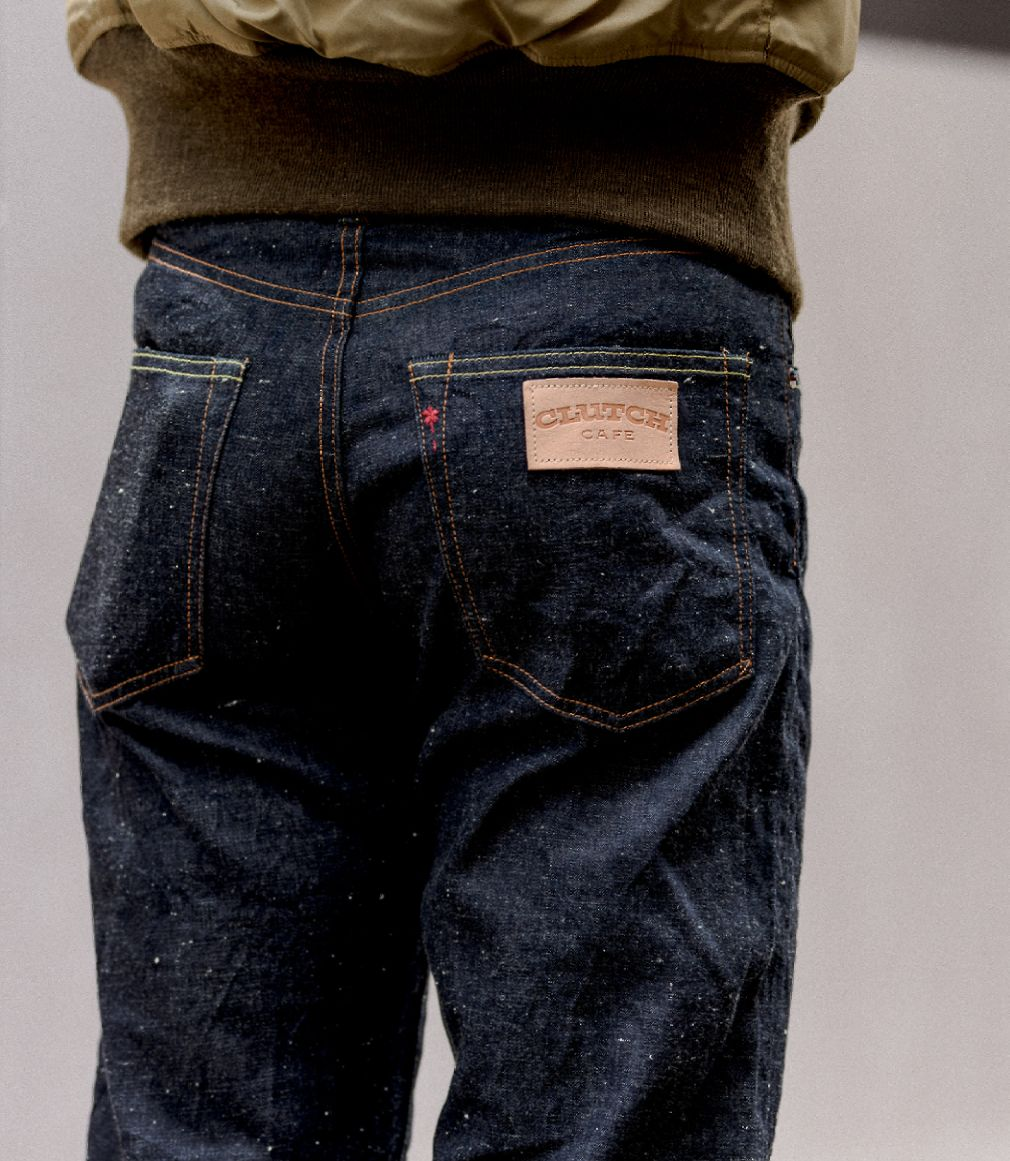 BURGUS PLUS X CLUTCH CAFE 770SCC 9OZ DENIM JEAN - SELVEDGE DENIM - JAPAN - COLLABORATION