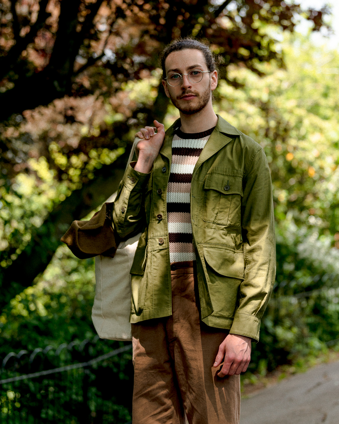 SOUNDMAN 643M-906N WHITBY JACKET BEIGE - CLUTCH CAFE LONDON - SAFARI JACKET