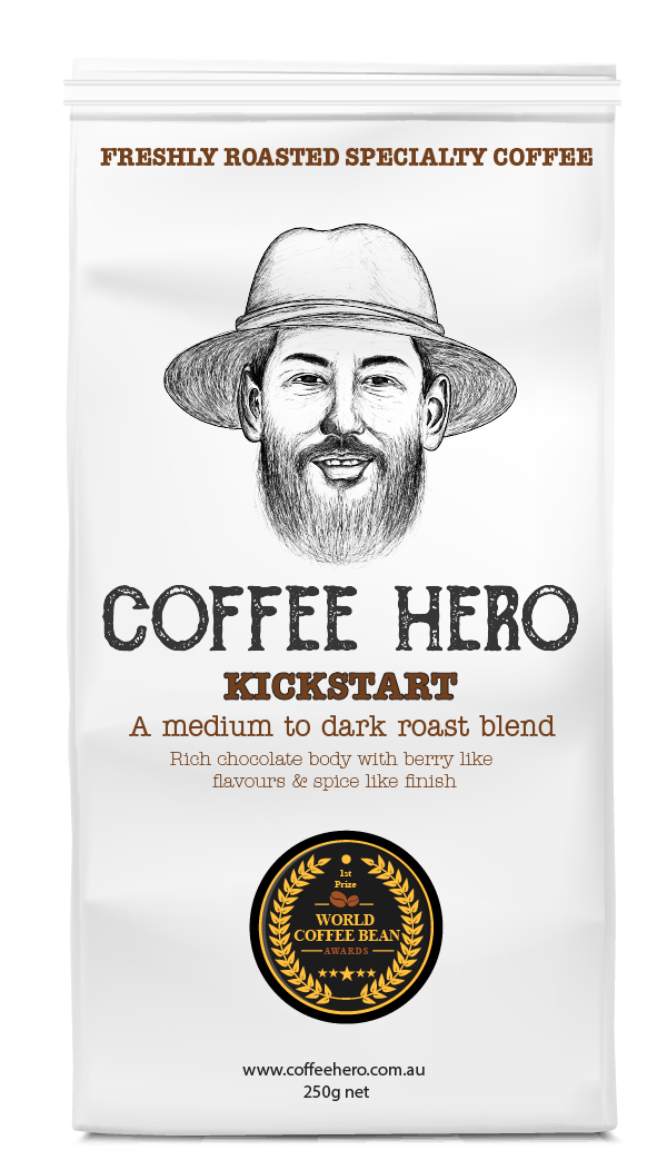 Kickstart medium dark roast specialty coffee beans freshly roasted