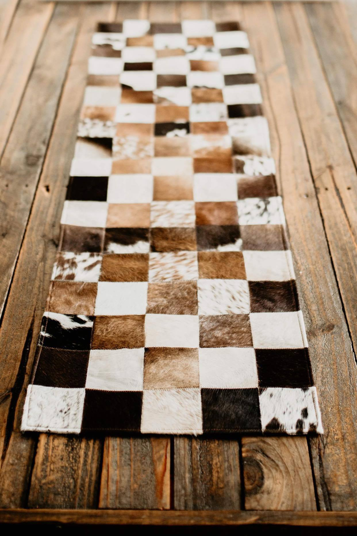 cowhide table cover