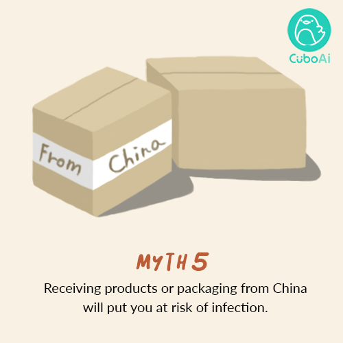 products from china don't cause Coronavirus
