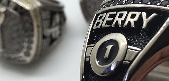 Custom Fantasy Football Championship Ring - Name and Number customization