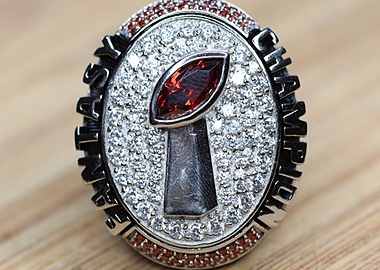 Customized fantasy football championship ring - Hall of fame with full customization