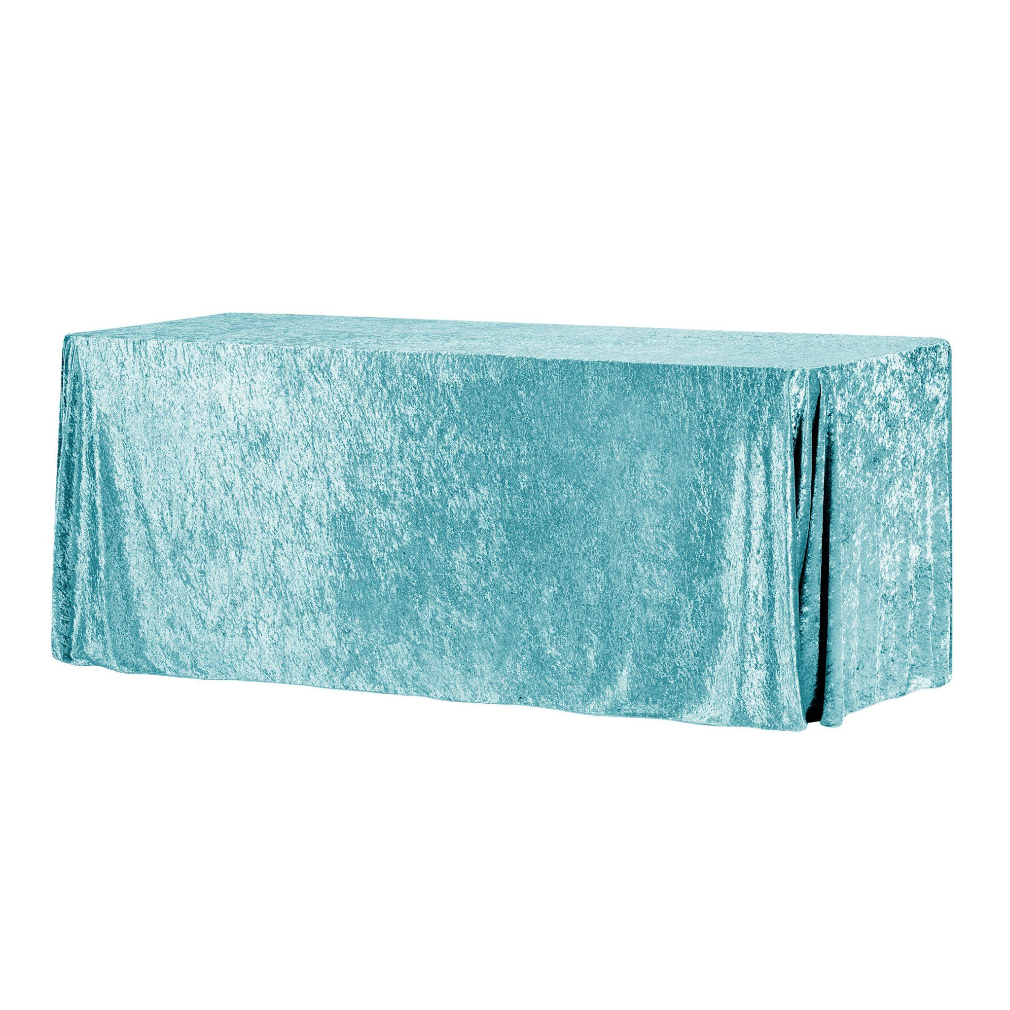 "Velvet 90""x156"" Rectangular Tablecloth - Peacock Teal"