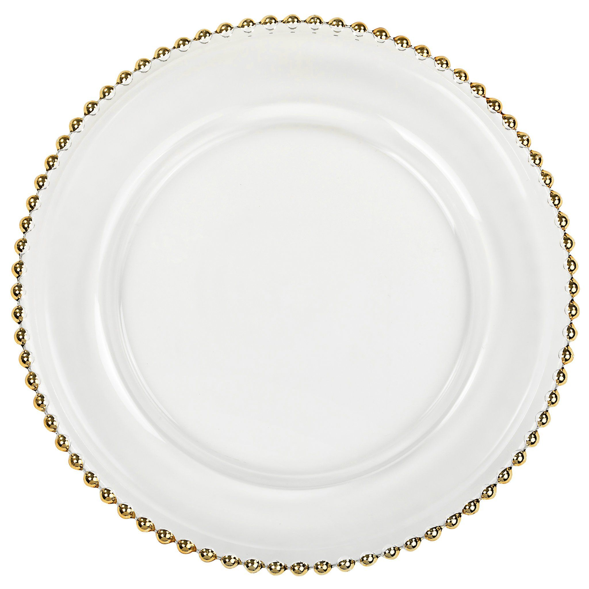 Beaded Glass Charger Plates