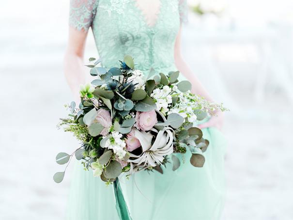 Seafoam green bridal party dress