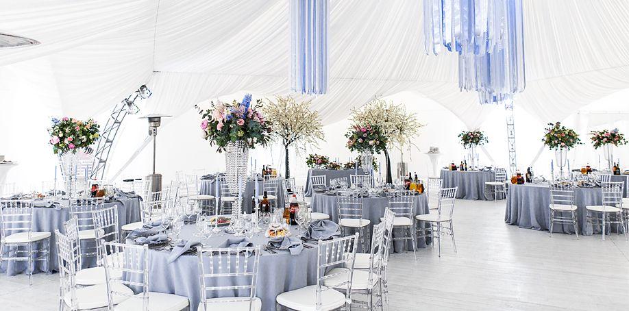 Dusty Blue Tablecloths